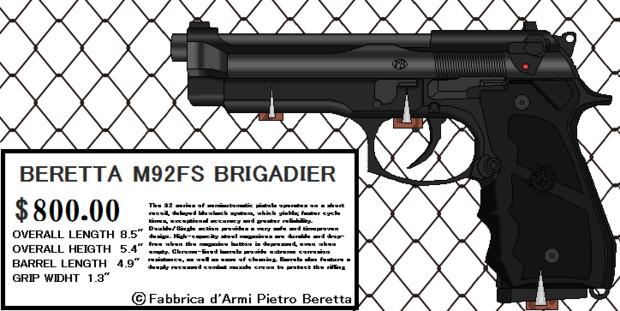 ベレッタ M92FS ブリガディア