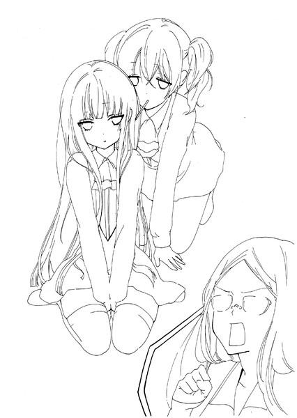 妖弧×僕SS アナログ線画