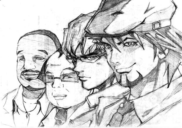 虎徹とバーナビーと斉藤さんとベンさん