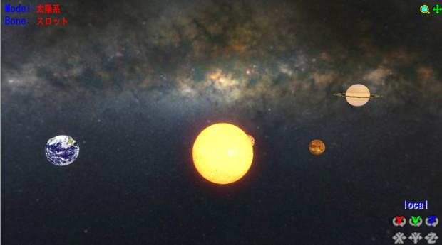 MMDエンジンで回る天の川つき太陽系