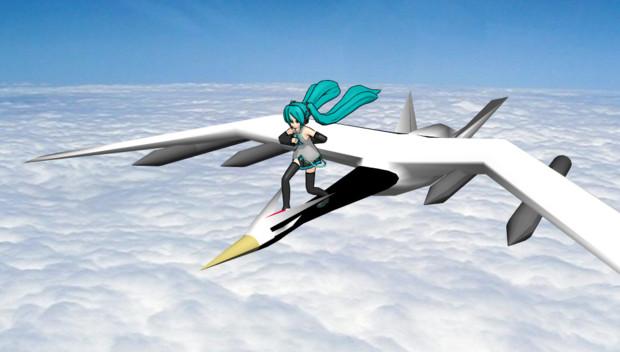 ミクさん On 鶴型無人爆撃機