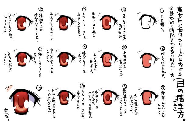たてセタシリーズ時の目の描き方 赤穂老師 さんのイラスト ニコニコ