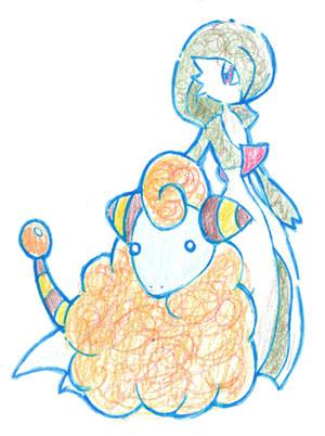 【サーナイトとメリープを描いてみた】