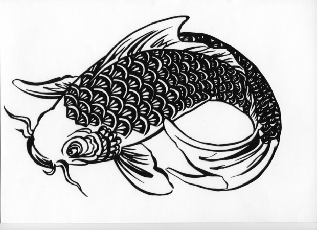 【切り絵】 鯉