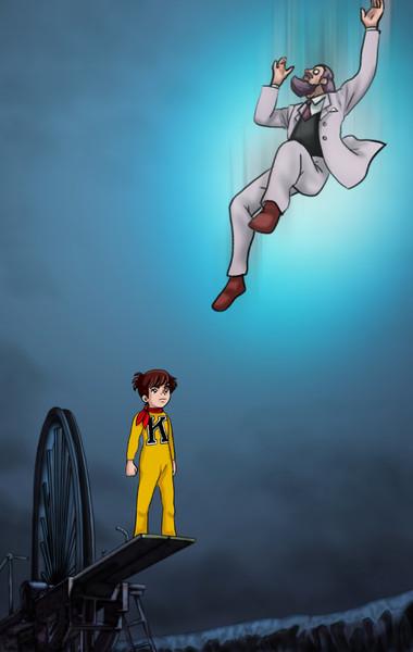親方!空からかわいそうなボルガ博士が・・・