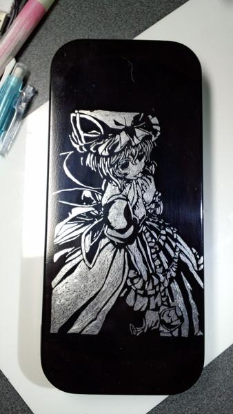 【筆箱】 レミリア・スカーレットを彫ってみた