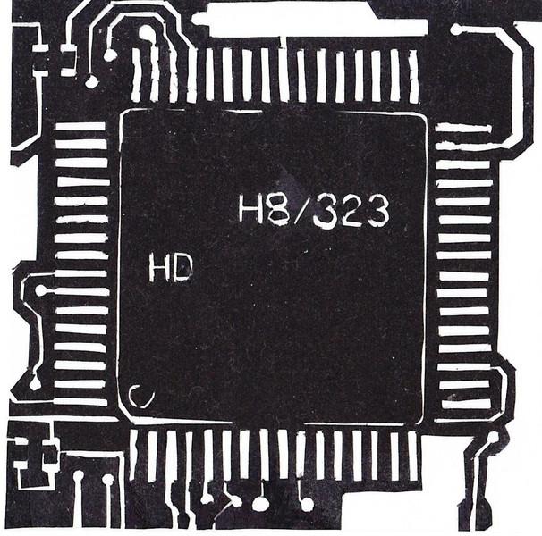 【切り絵】H8マイコン【マイコン】