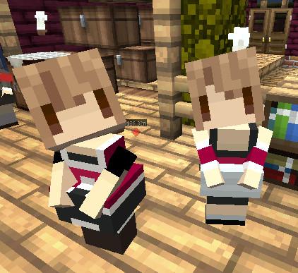 【Minecraft】littleMaidMobで『零 眞紅の蝶』の澪と繭
