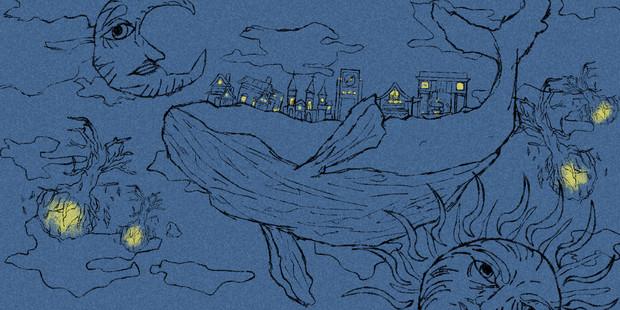 空のクジラとクジラの街