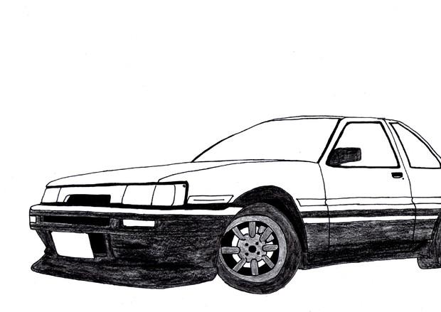 AE86レビン 模写
