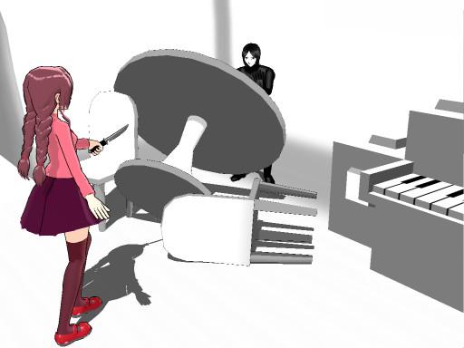 【MMD-OMF2】宇宙船ステージ【ゆめにっき】
