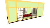 小料理屋の一室風のステージ配布します