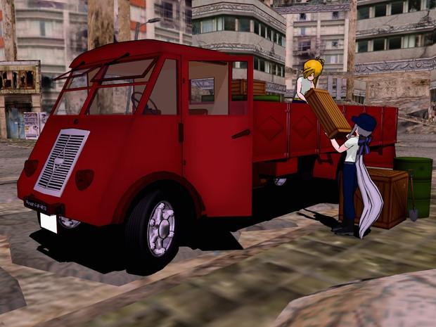 【MMD-OMF2】ルノーAHRトラック