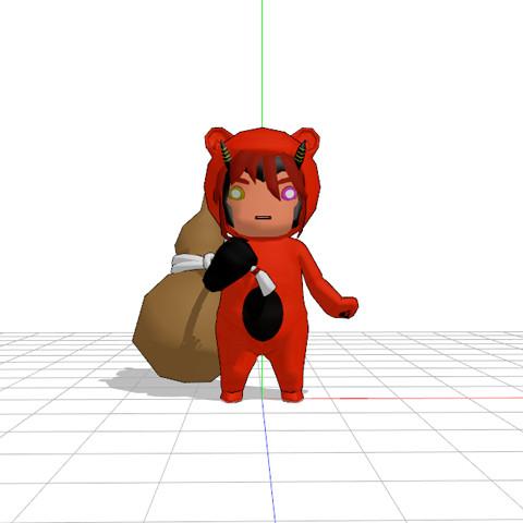 【MMD-OMF2】酒呑童子っぽい熊【遅刻】