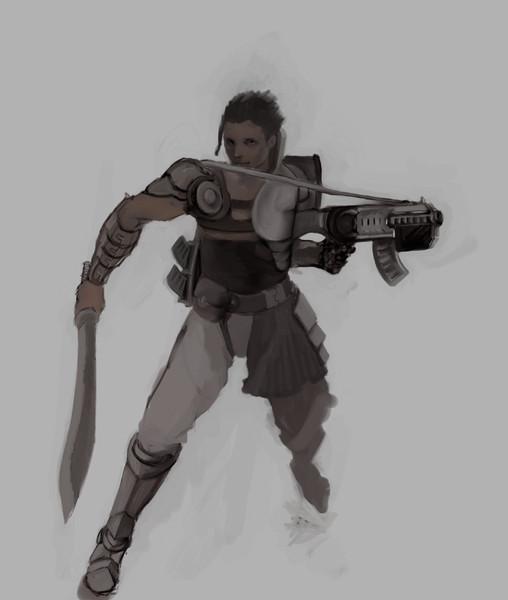 戦士(銃と剣)