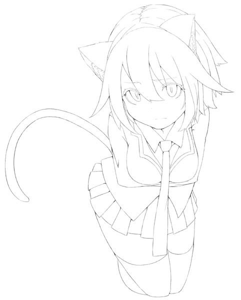 猫っ娘 線画