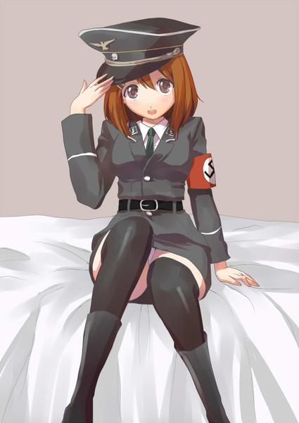 捧げ物の唯さん(ナチス軍服コス)