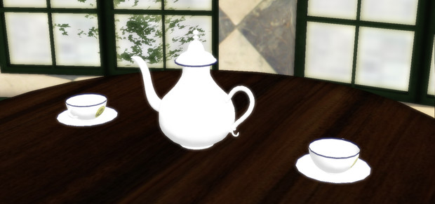 【MMDアクセサリ】フランス紅茶店で出てきそうなティーセット