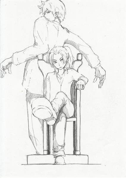 利吉と土井先生です