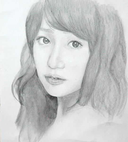 大島優子描いてみた(途中)