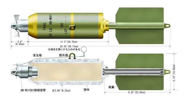 【アメリカ軍】AN-M41 20ポンド破片爆弾