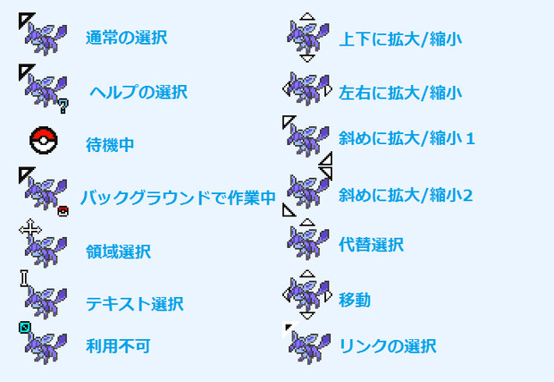 【ポケモン】マウスカーソル【グレイシア】