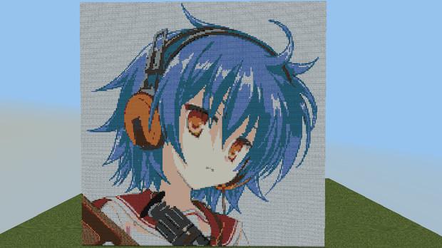 【minecraft】緋弾のアリアのレキをドット絵で描いてみた