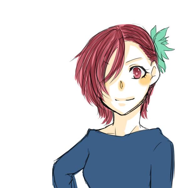 赤い髪と緑の花と テテ さんのイラスト ニコニコ静画 イラスト