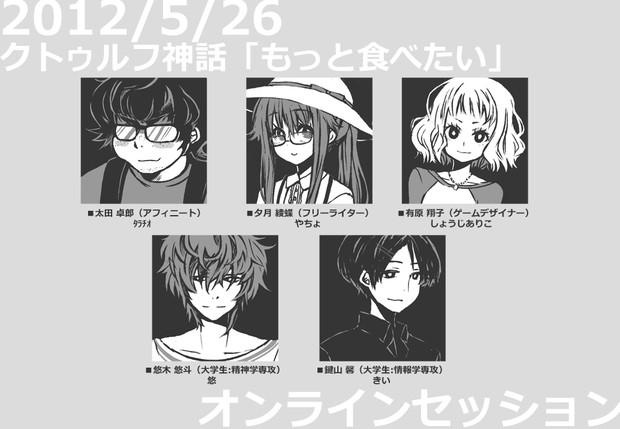 【クトゥルフ神話】 2012/5/26 オンラインセッション 【キャラクターアイコン】