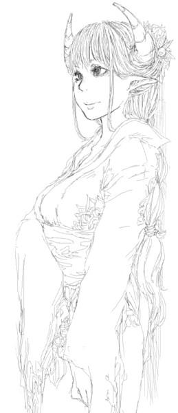 和服の角娘