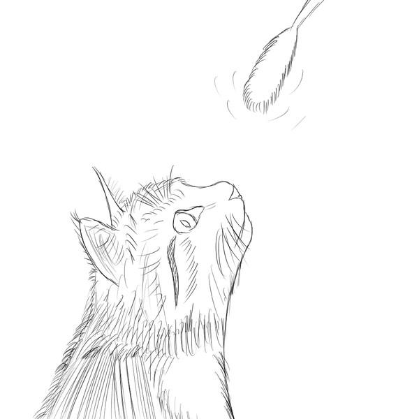 私の落書き(猫)