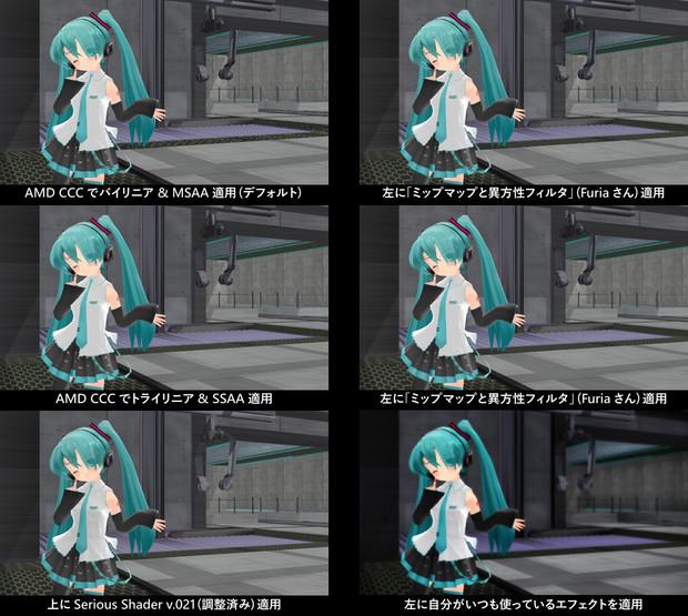 【MMD】AMD CCC設定による画質の違い【比較】