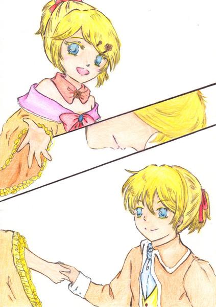 悪ノ娘 黄のクロアデュール ラストシーン描いてみた