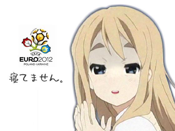 Euro2012 眠いわ~(;__)~゜
