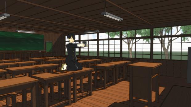 【懐かしい感じの教室】旧教室【光画部部室換装】