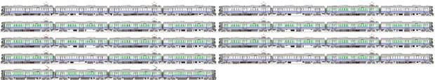 JR西223/225系(日根野電車区)各種 側面イラスト