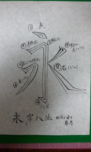 永字八法 / 浮鶴停 筆 さんのイラスト - ニコニコ静画 (イラスト)