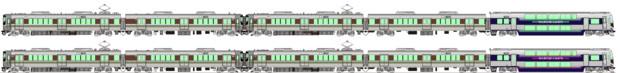 JR西223系5000番台&JR四国5000系マリンライナー 側面イラスト