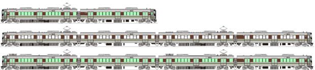 JR西223系5500番台・6000番台 側面イラスト