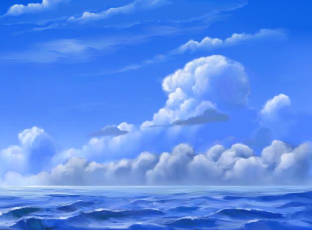 フリー素材――夏の海
