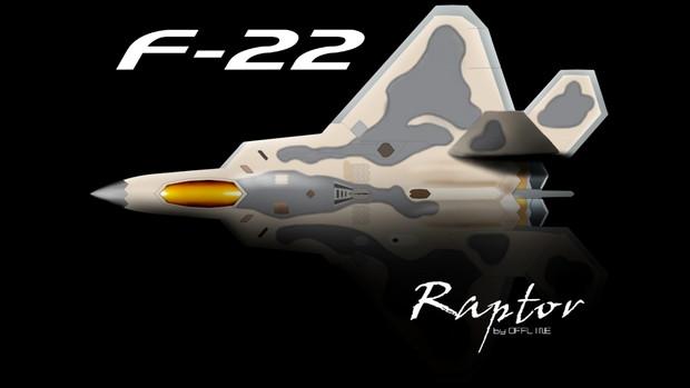 スマホ壁紙用F-22 and shadow