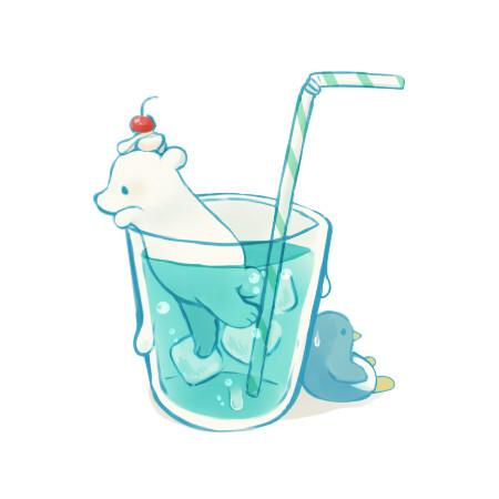 しろくまソーダ水