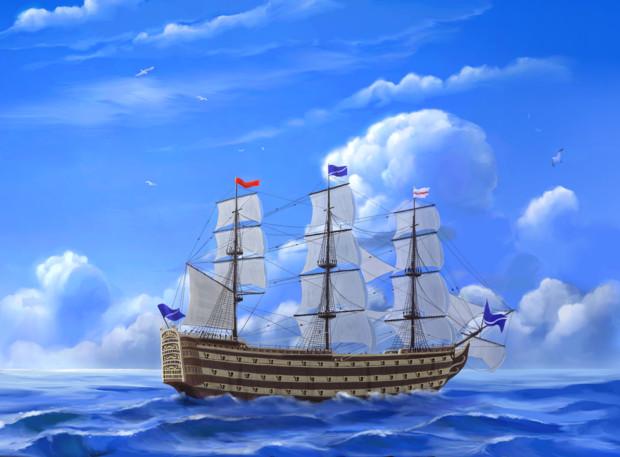 戦列艦『クレール・デ・ルーヌ』