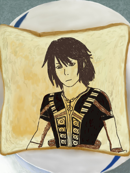 ノエル・クライスを食パンに描いてみたを描いてみた