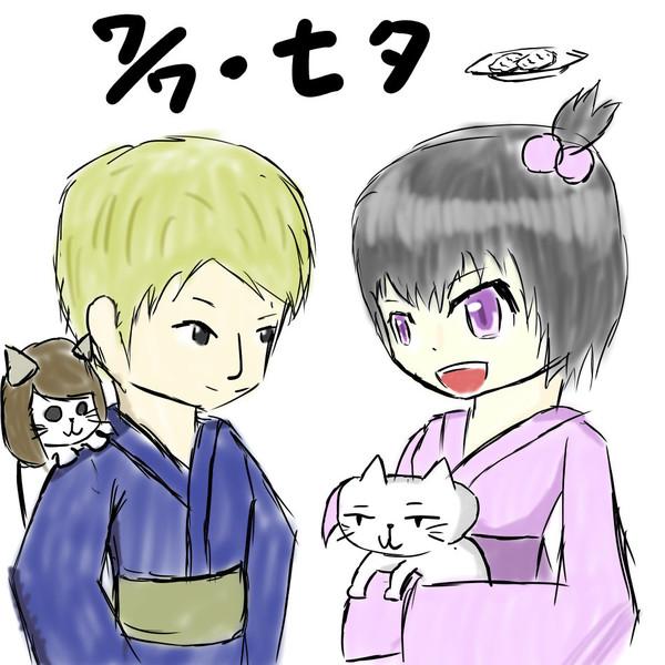 【ドリームクリエイター】浴衣と猫と牛タン