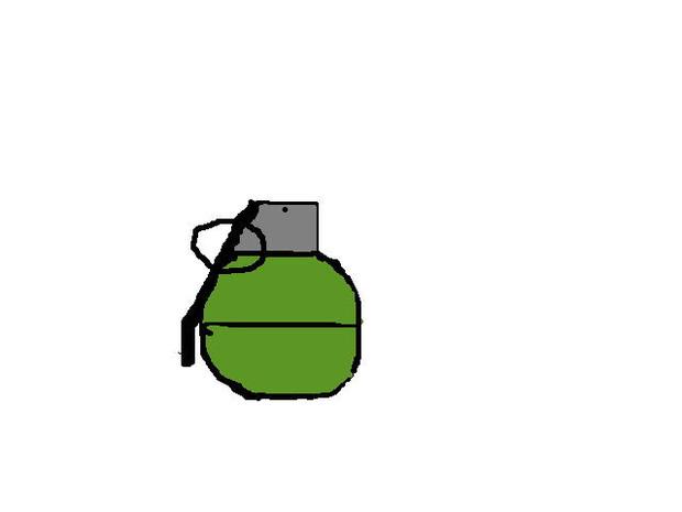 手榴弾の落書き