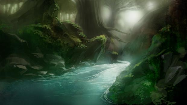 フリー素材妖怪の山の麓東方的な風景 にひまる さんのイラスト