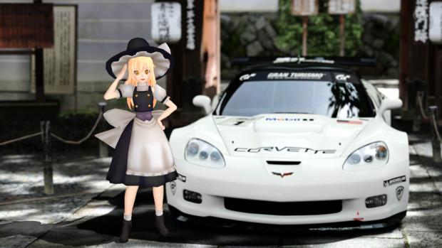 東方賽車隊・08 -シボレー・コルベットC6R ZR1 '09×霧雨魔理沙