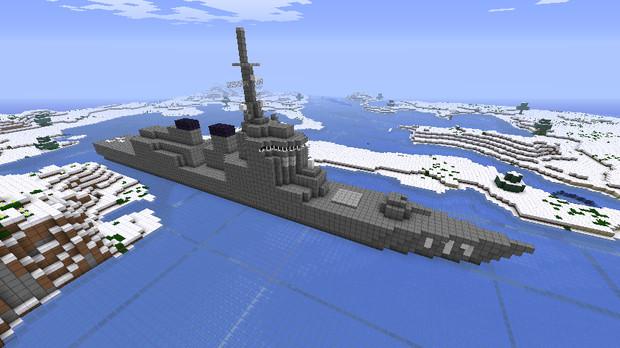 Minecraftイージス艦的なもの造ってみた Blue Earth さんのイラスト