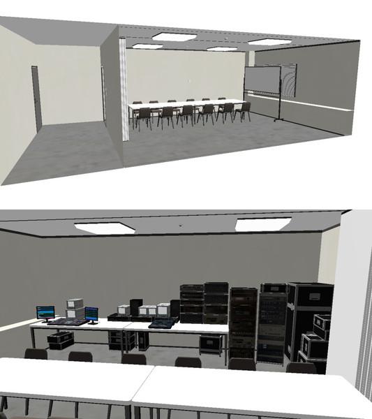 会議室+モニター室